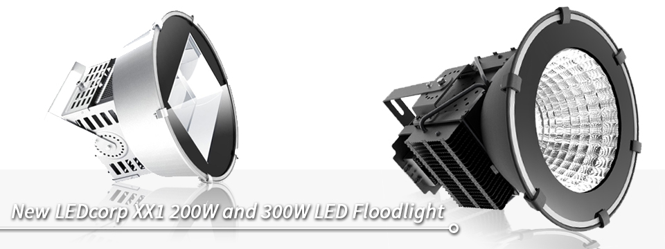 New LEDcorp XX1 200W and 300W LED Floodlight