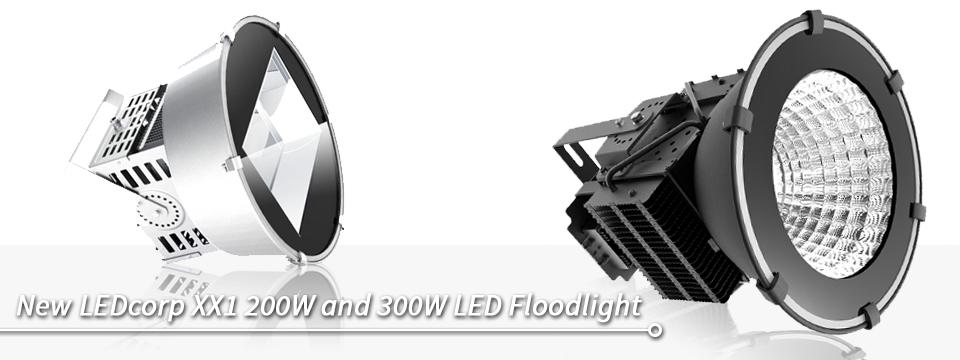 New LEDcorp XX1 200W and 300W LED Floodlight